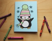 Coloring Book Winter Animals