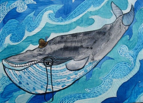 SALE-Mister Whale-ORIGINAL PAINTING