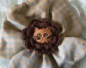 Prim Pets Kitty Flower Pin