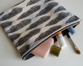 Feather Pouch/Makeup Bag