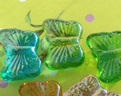 Glass Irridescent Butterflys Garden Mosaic Art Tile Embellishments