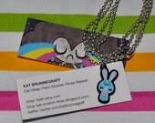 Blue Bunny Charm animal jewelry pendant