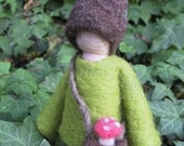 Needle Felted Doll - Harvest Gnome