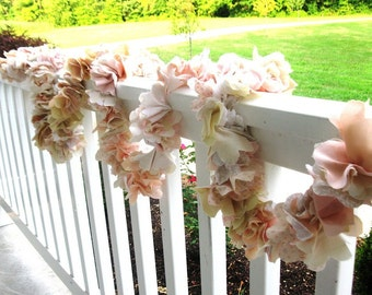 Custom Fabric Flower Garland
