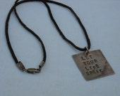 Vintaj pendant, let your life speak, custom made