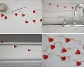 Mini Hearts Crochet Garland