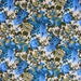 FOR Linda - 4 YDS - stunning 1960's bluebirds, pheasant and rose floral print cotton drapery fabric