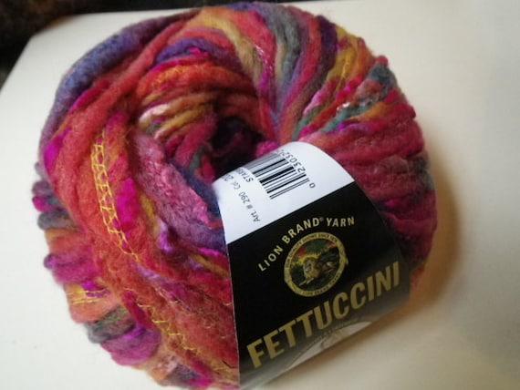 Felted Yarn Starburst Fettuccini Lion Brand Bulky Roving Yarn 10 Skeins Lion Brand