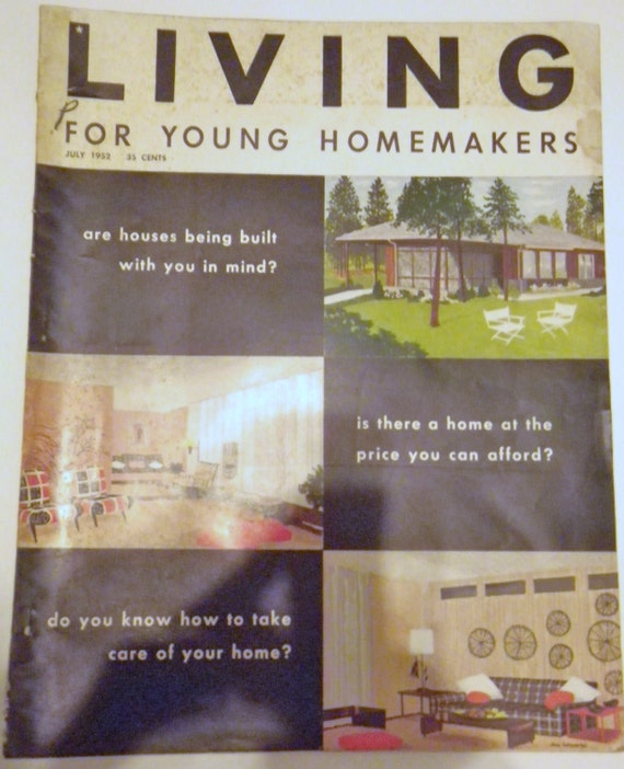Modernist home living vintage magazine for young homemakers for Homemakers furniture locations illinois