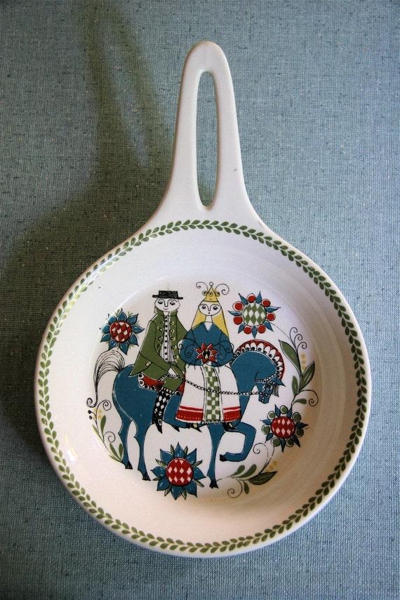 Vintage FIggjo Flint Saga Norway Turi Ceramic Pan