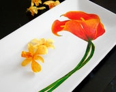Extra Long Calla Lily Platter