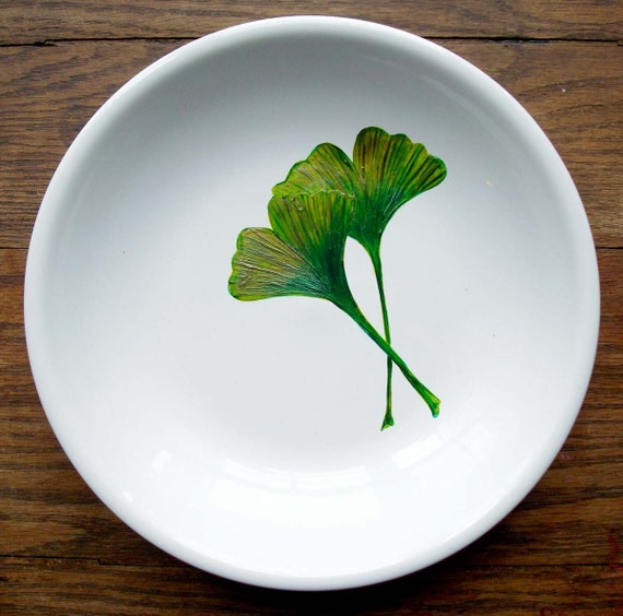 Ginko Leaf Serving Bowl