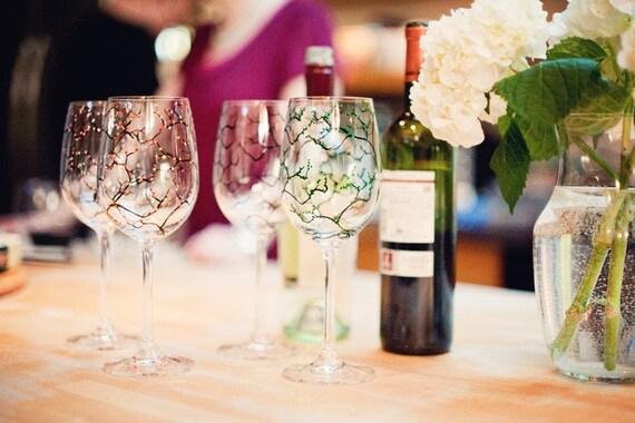 Four Seasons Wine Glasses - Set of 8