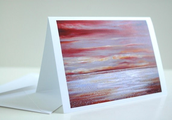 Ferry Boat View Fine Art Greeting Card--Single Card