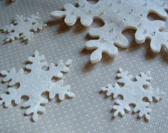 12 little Felt snowflake 1.5 inch
