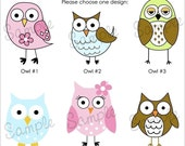 Set of 25 OWL Personalized Cardstock Tags, 12 Designs to Choose From, Gift Tags, Hang Tags, Favor Tags