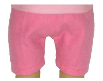 """Pink Shorts - Made to Fit American Girl / 18"""" Doll - Doll Clothes - Bright Pink"""