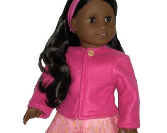 AMERICAN GIRL COAT - American Girl Clothes - Bright Pink