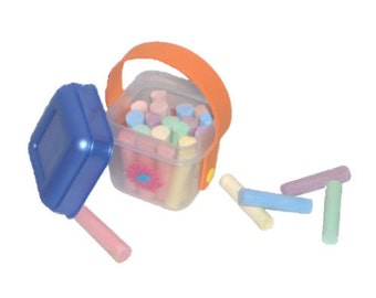 """Chalk Bucket - Made to Fit American Girl / 18"""" Doll - DOLL ACCESSORIES - Chalk Really Writes!"""