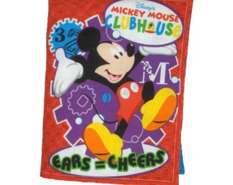 CLOTH BOOK for CHILDREN - Made From Mickey Mouse and Friends Fabric
