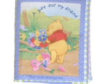 SOFT BABY BOOK - Made from Winnie the Pooh Fabric