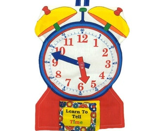 SOFT CLOCK TOY - Learn to Tell Time