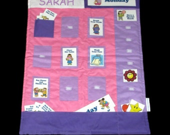CHORE CHART PERSONALIZED - Includes 26 Markers - Pink Version