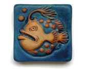 Deep Sea Angler Fish Tile 4x4