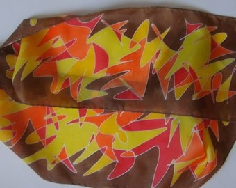 Scribble Scarf - Autumn