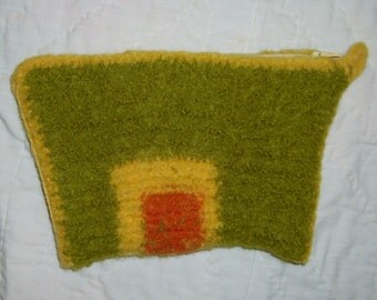 Felted Citrus Clutch