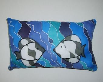 Zebra Fish Love Mini Pillow