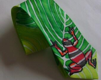 Poison Dart Frog Necktie