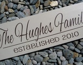 Completely Painted Custom Wood Sign, Personalized family name sign, Last name,  wedding, bridal shower, NO VINYL lettering