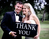 Wedding Sign, Wedding Photo Prop, Thank you Card picture, wedding display, Just married sign painted, no vinyl lettering