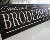 Custom Wood Sign, Personalized Family Name Sign, Last Name Sign, wedding present, bridal shower gift, no vinyl lettering fast shipping