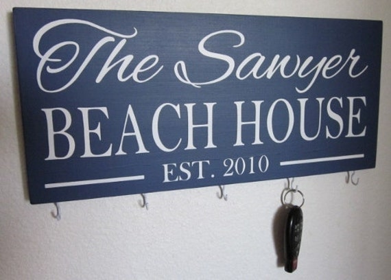 Lake House, Beach House, Cabin, Key Hook, Key hanger, Lake house decor, Beach House Decor, House Name