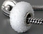 Snowball Sugar Glass Bead