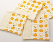 RESERVED for Vedina.  yellow apple coasters (set of four)