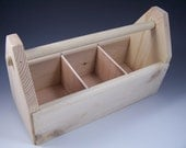 Custom Order for T Williams - Wooden Toolbox, Art Caddy, Supplies Organizer with dividers made from pine
