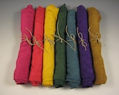 Playsilks - set of 7 colors from the Earth Rainbow Set - Waldorf Inspired 35 x 35 inch silks