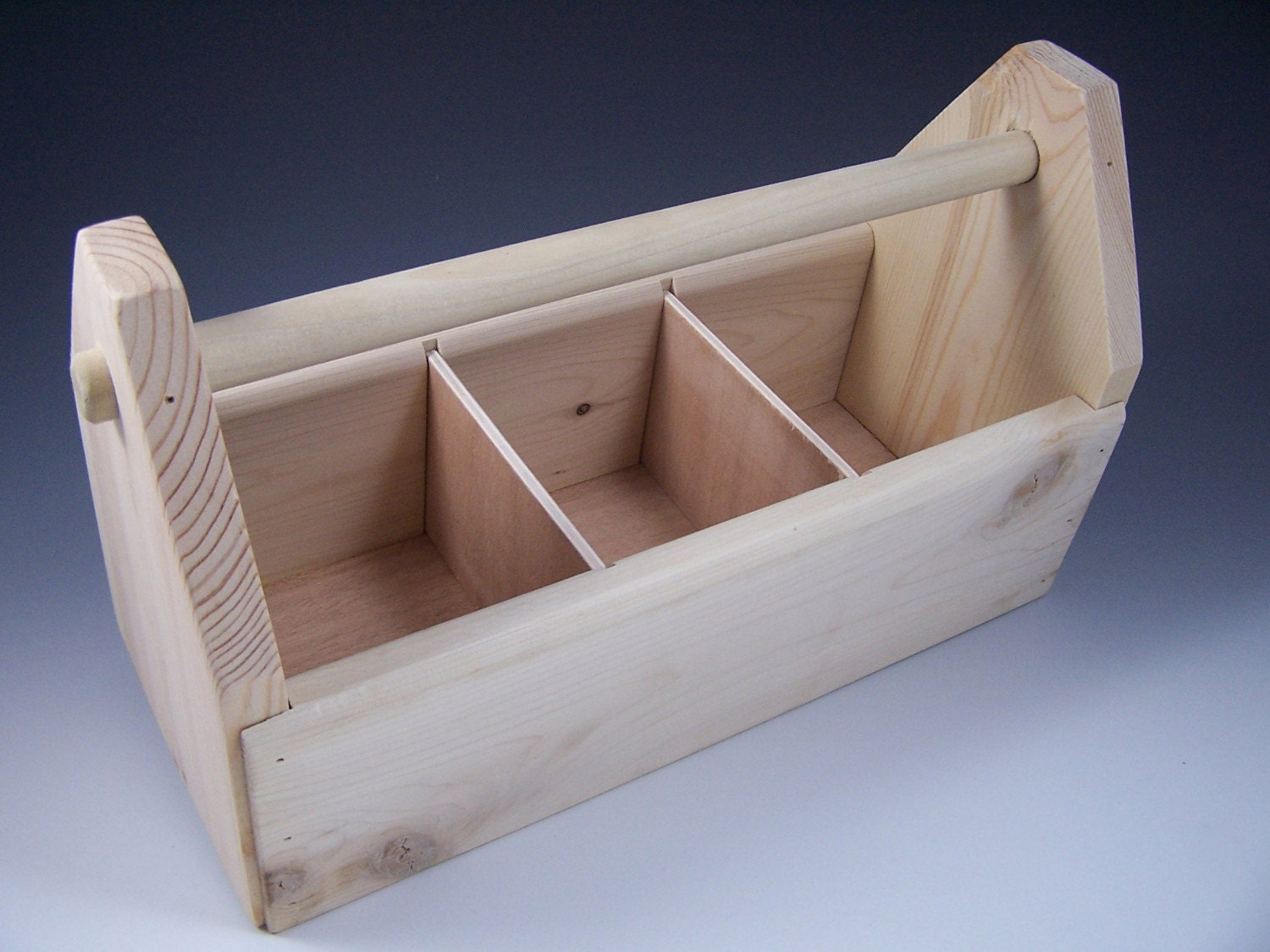 Wooden Toolbox Art Caddy Supplies Organizer With Dividers - 1500x1125 ...