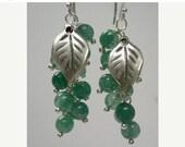ON SALE Green Berries Cluster Earrings