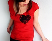 Valentine's Day Shirt - Red Heart Love Women's T-shirt, Valentine's Day Gift - Tender Time Bomb Scoop Neck Tee