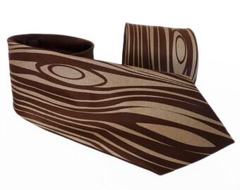 Wood Grain Men's Necktie, Clothing Gift, Neckties for Men, Woodworking Gift, Wood Tie, Rustic Wedding, Woodgrain Tie - Against The Grain Tie