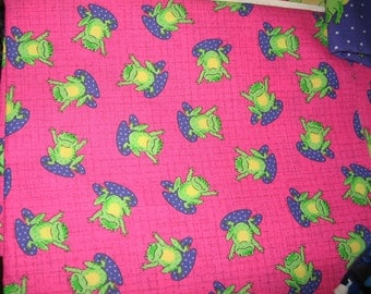 Handmade Adorable Frogs on Lily Pads Lap Sofa Throw