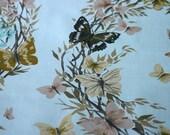 Butterfly Wreath Vintage Chintz In Pale Blue