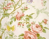 Flowering Vine Vintage Fabric in Pink