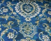 Indigo and Scrolls Vintage Fabric Limited Yardage