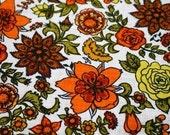 Vibrant Floral Vintage Fabric
