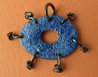 Cobalt Armed Orb Pendant